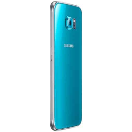 Side view of Blue Samsung Galaxy S6