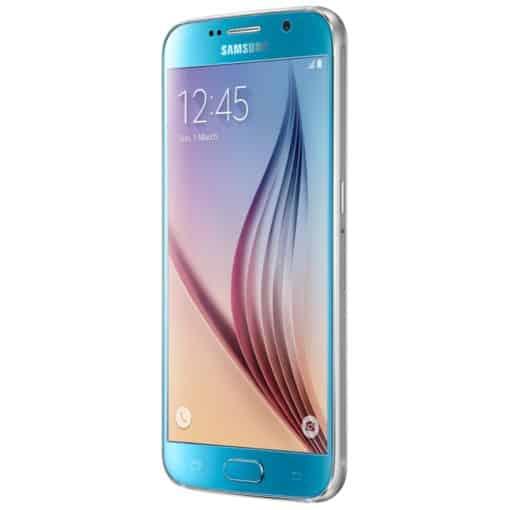 Large display on Samsung S6 Blue
