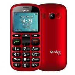 eSTAR S22, Seniors Mobile Phone With Charging Dock, Red