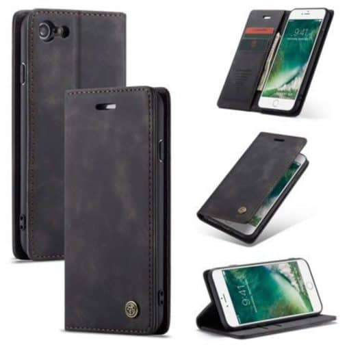 iPhone 8 Black Wallet Case