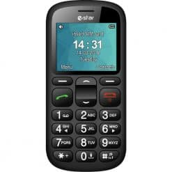 Seniors Mobile Phone With Charging Dock, Black